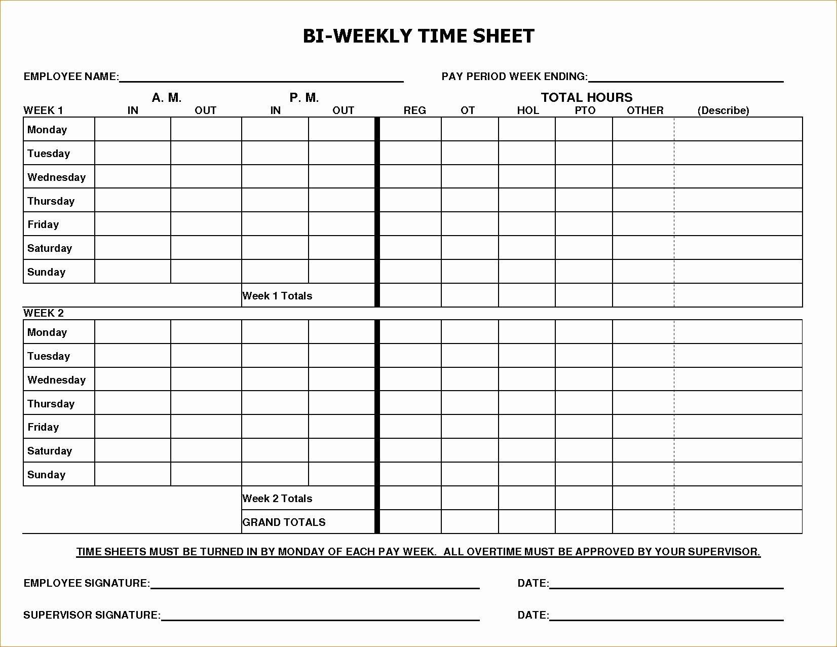 Multiple Employee Timesheet Template