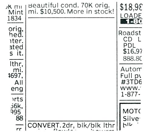 Newspaper Classified Ads Template