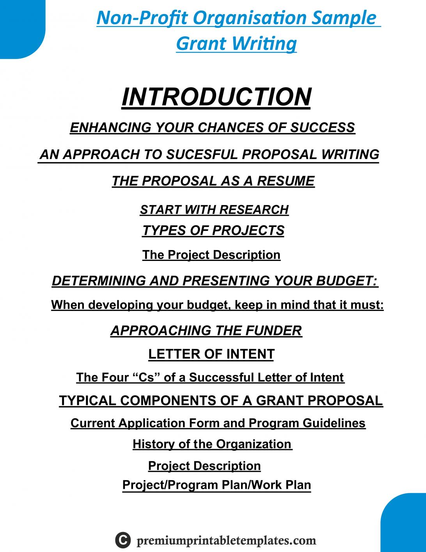 Non Profit Grant Proposal Budget Template