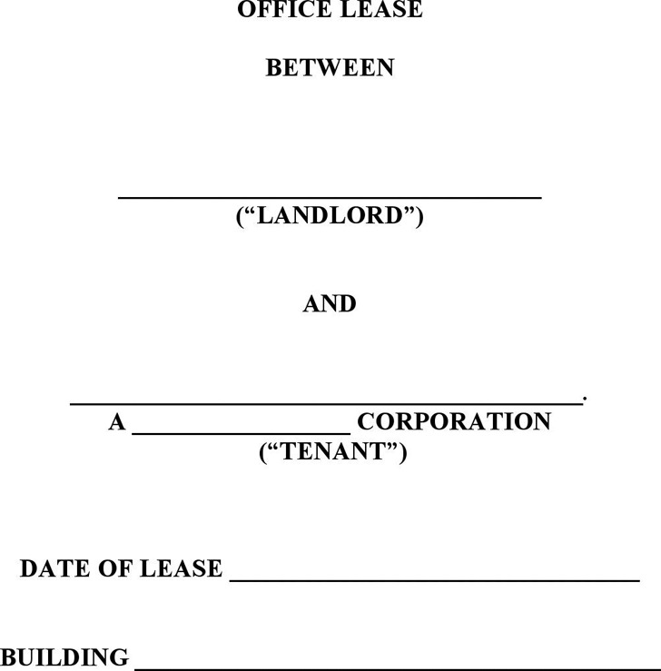 Office Lease Template Free