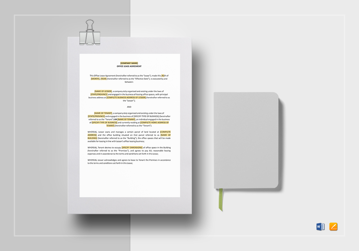Office Lease Template Word