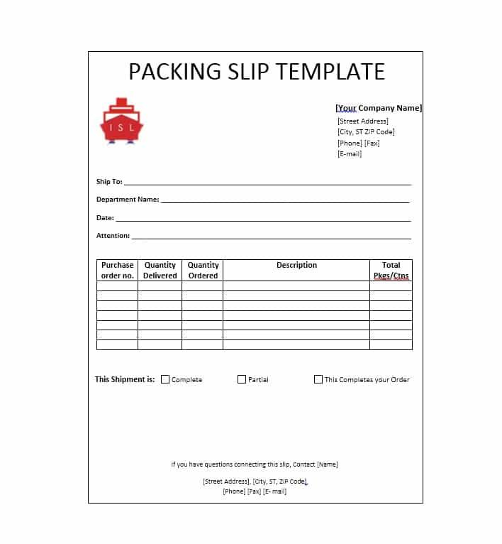Packing Slip Templates