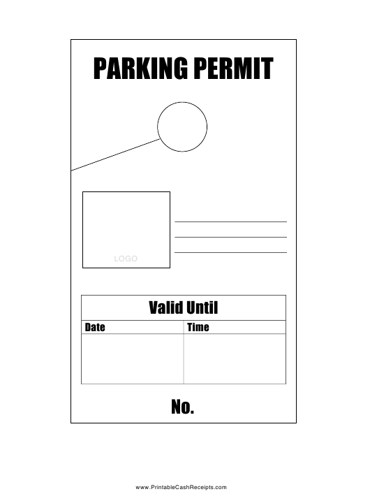 Parking Permit Tag Template