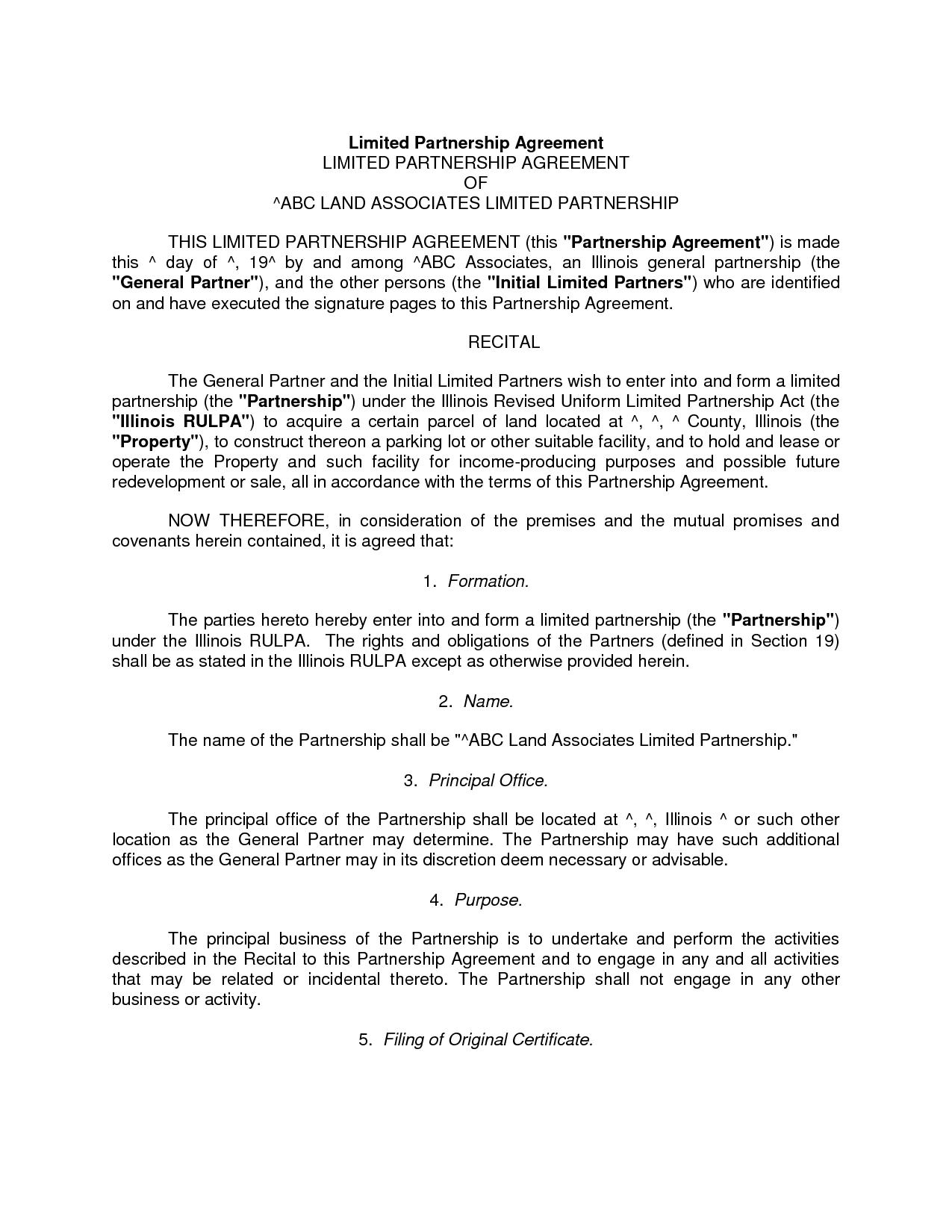 Partnership Dissolution Agreement Template Free