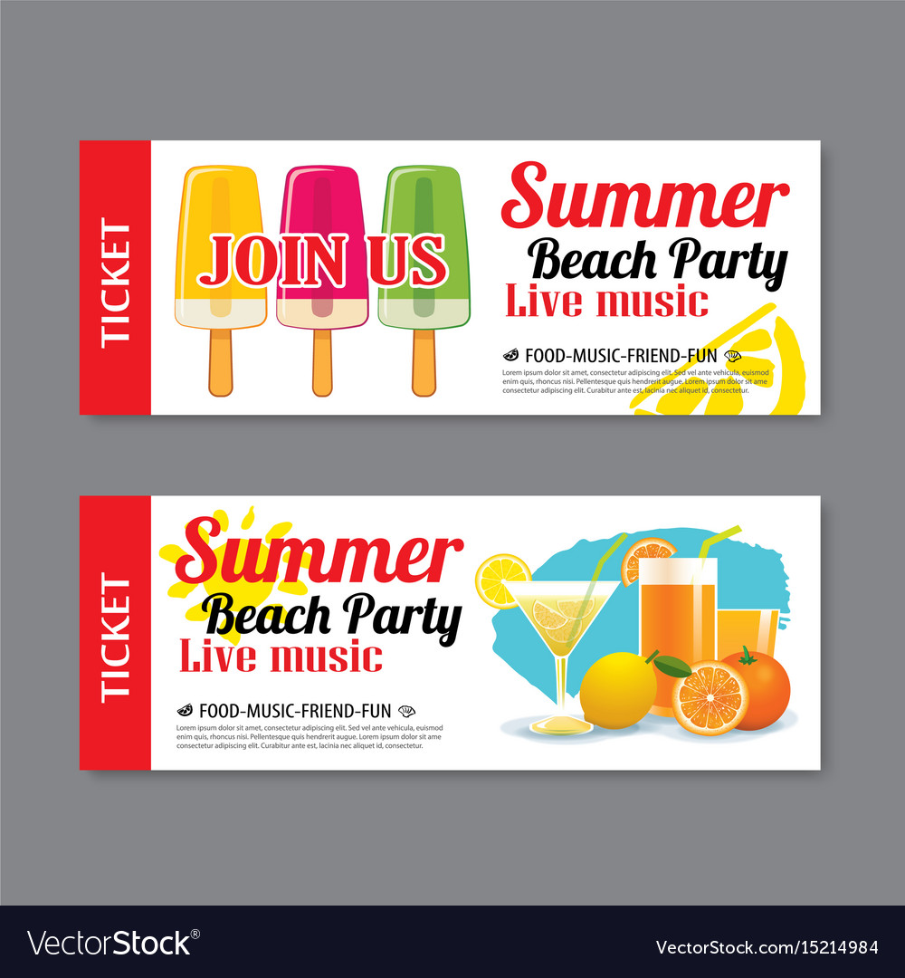 Party Invitation Ticket Template