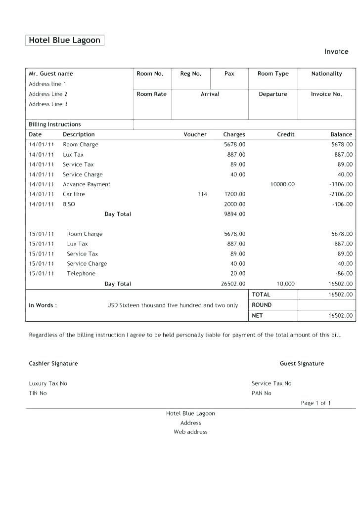 Pdf Free Printable Auto Repair Invoice Template