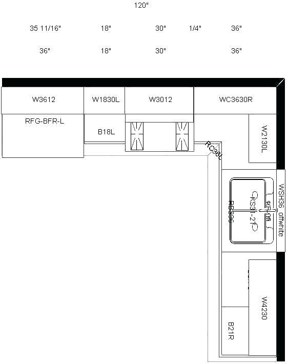 Peninsula Kitchen Layout Templates