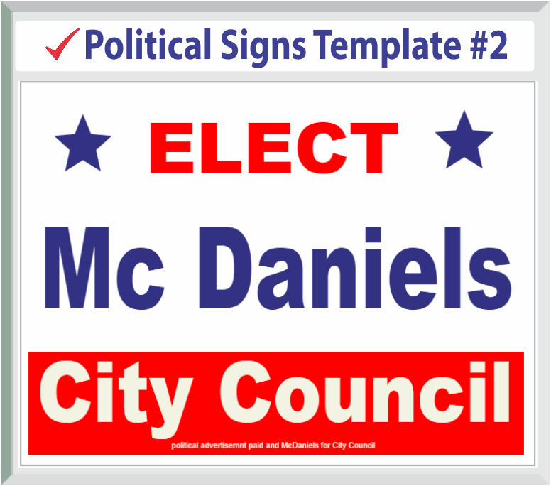 Political Signs Templates