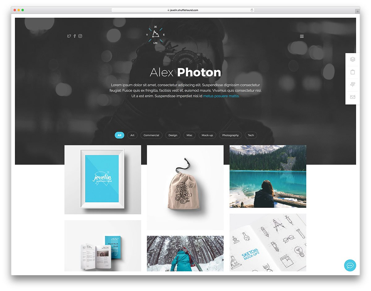 Portfolio Website Templates Wordpress