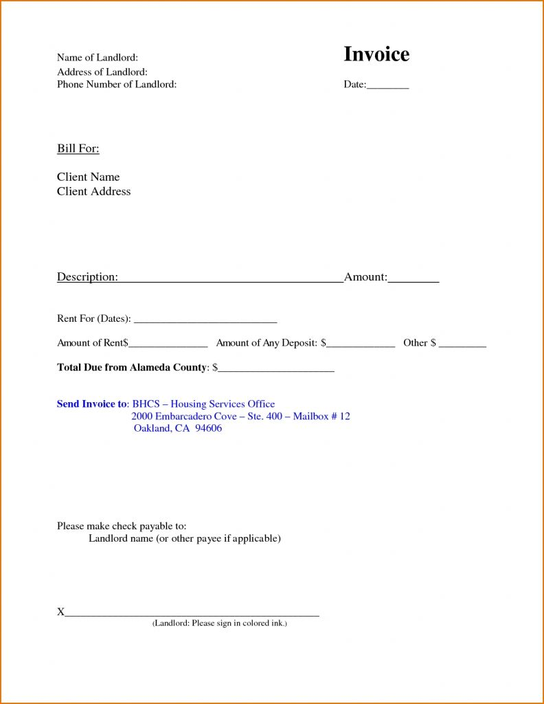 Printable Free Rental Receipt Template