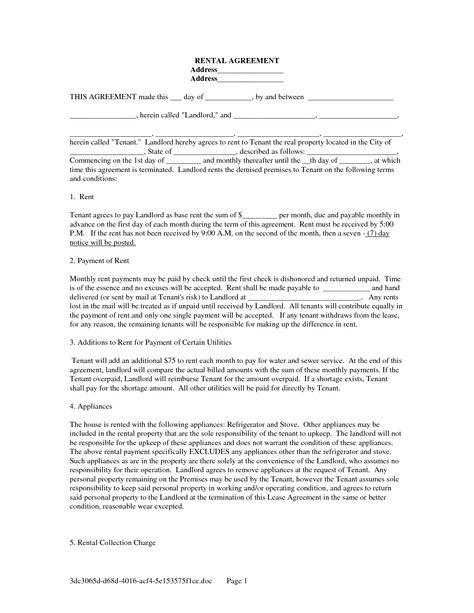 Printable Rental Agreement Template California
