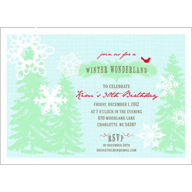 Printable Winter Party Invitation Template