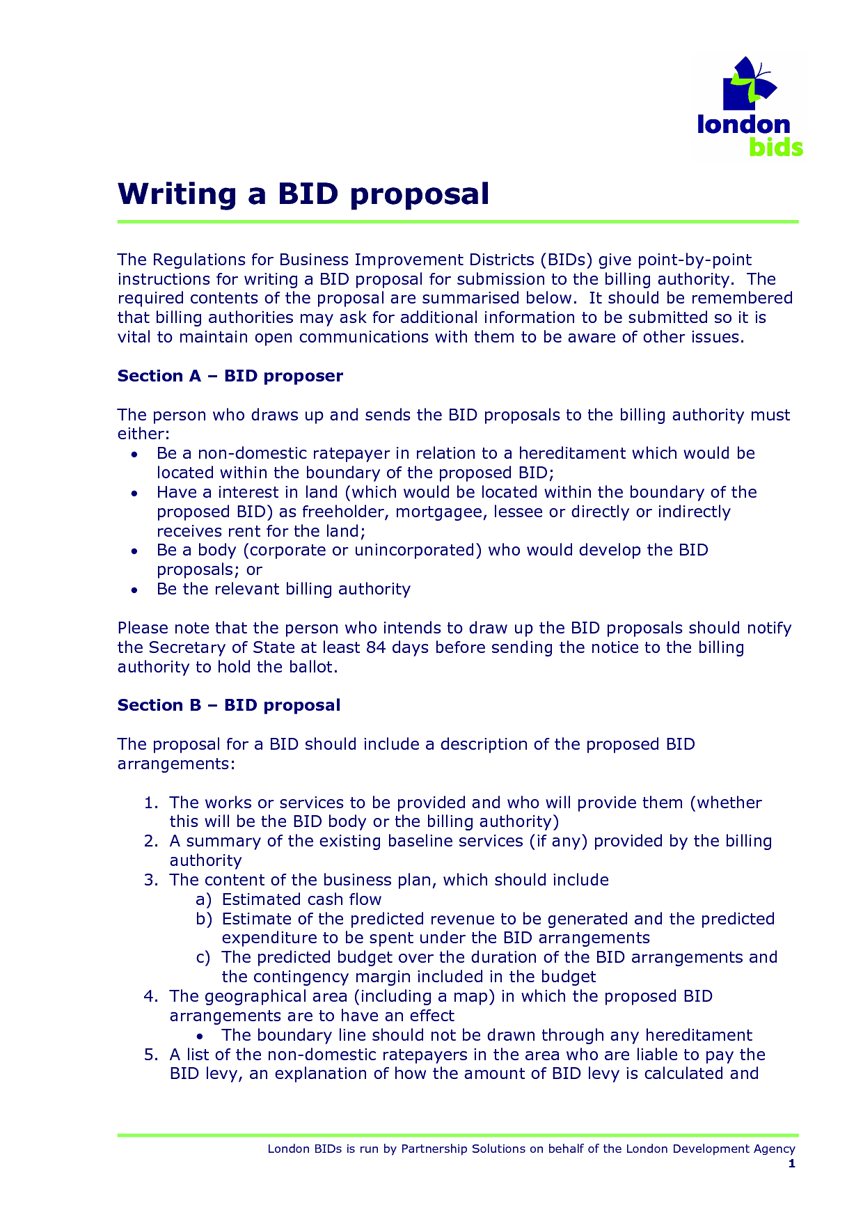 Professional Bid Proposal Template