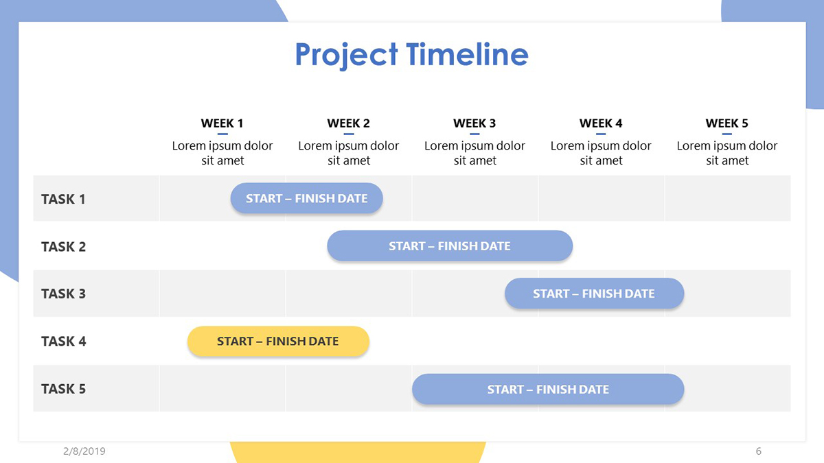 Project Timeline Template Excel Free Download