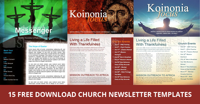 Publisher Church Newsletter Templates