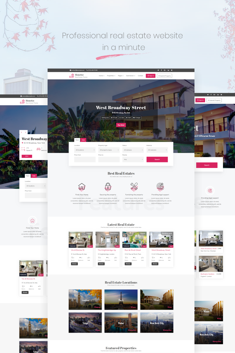 Real Estate Template Wordpress