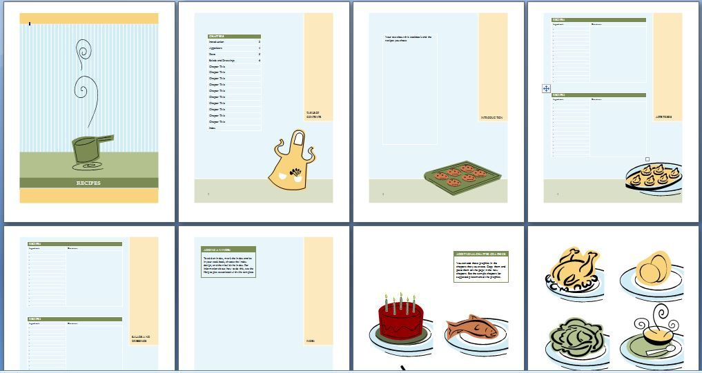 Recipe Cookbook Template Word