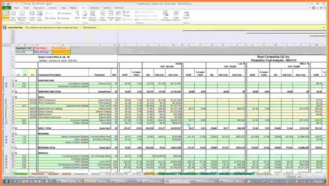 Residential Construction Estimate Template Excel