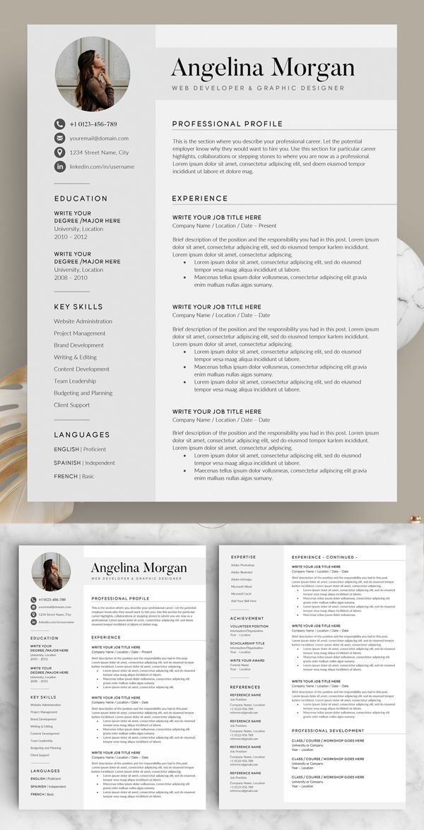Resume Layout Templates Word
