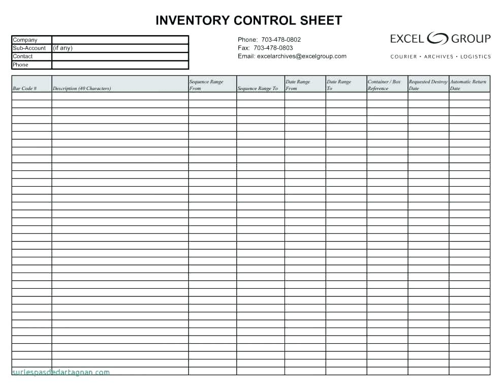 Retail Clothing Inventory Template Excel