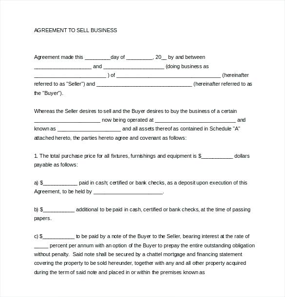 Sales And Purchase Agreement Nz Template