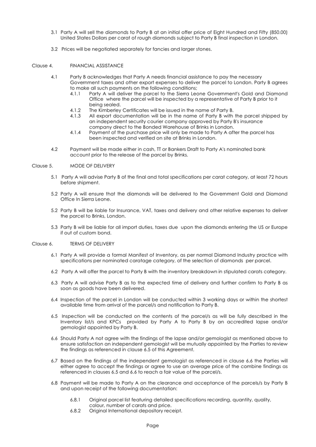 Sales And Purchase Agreement Template