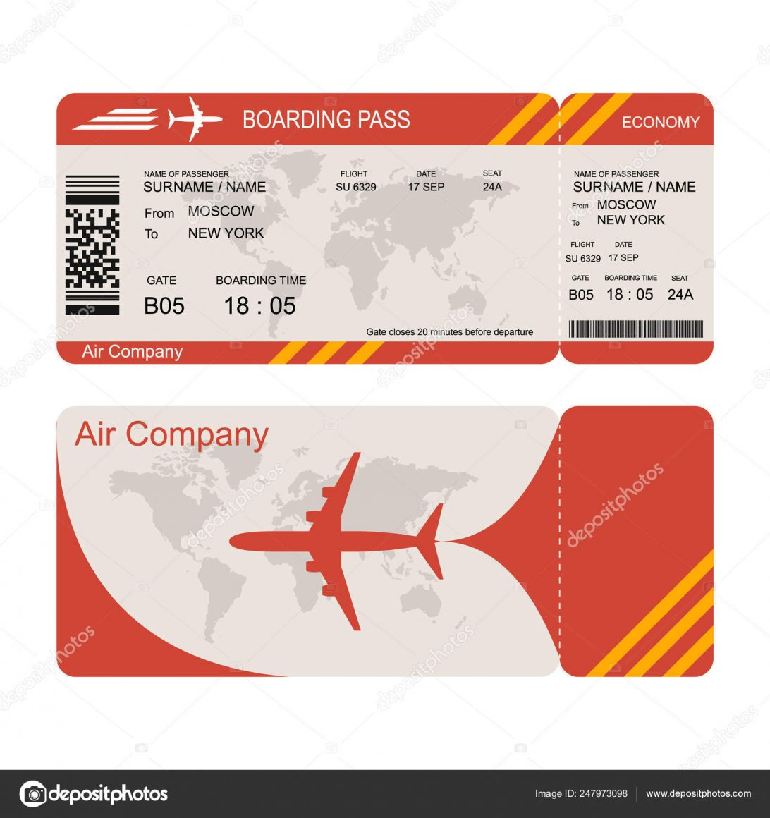 Sample Plane Ticket Template