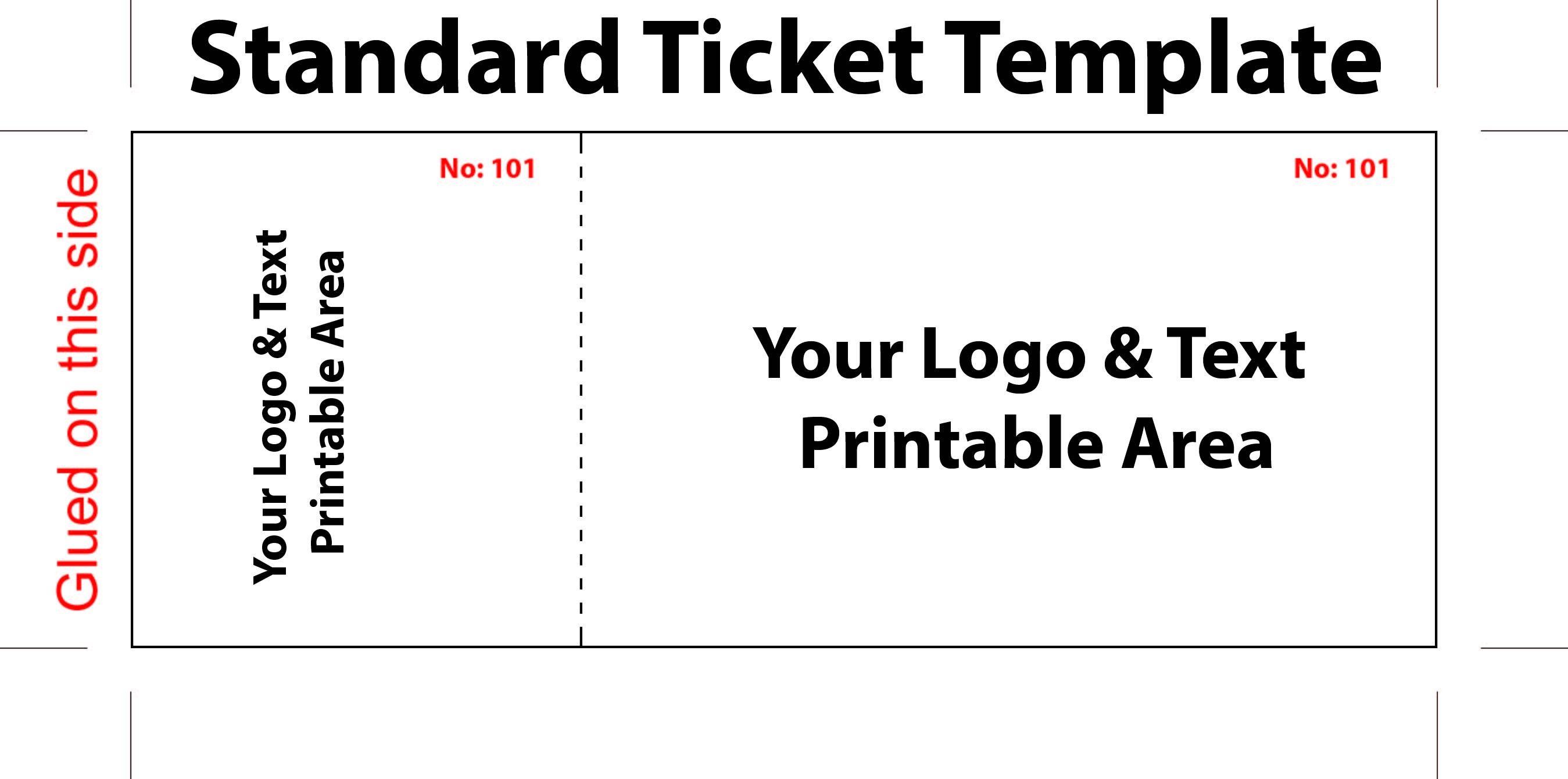 Sample Ticket Template