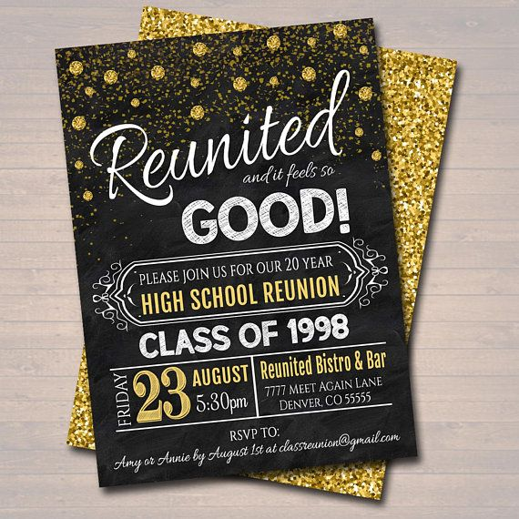 School Reunion Invitation Template