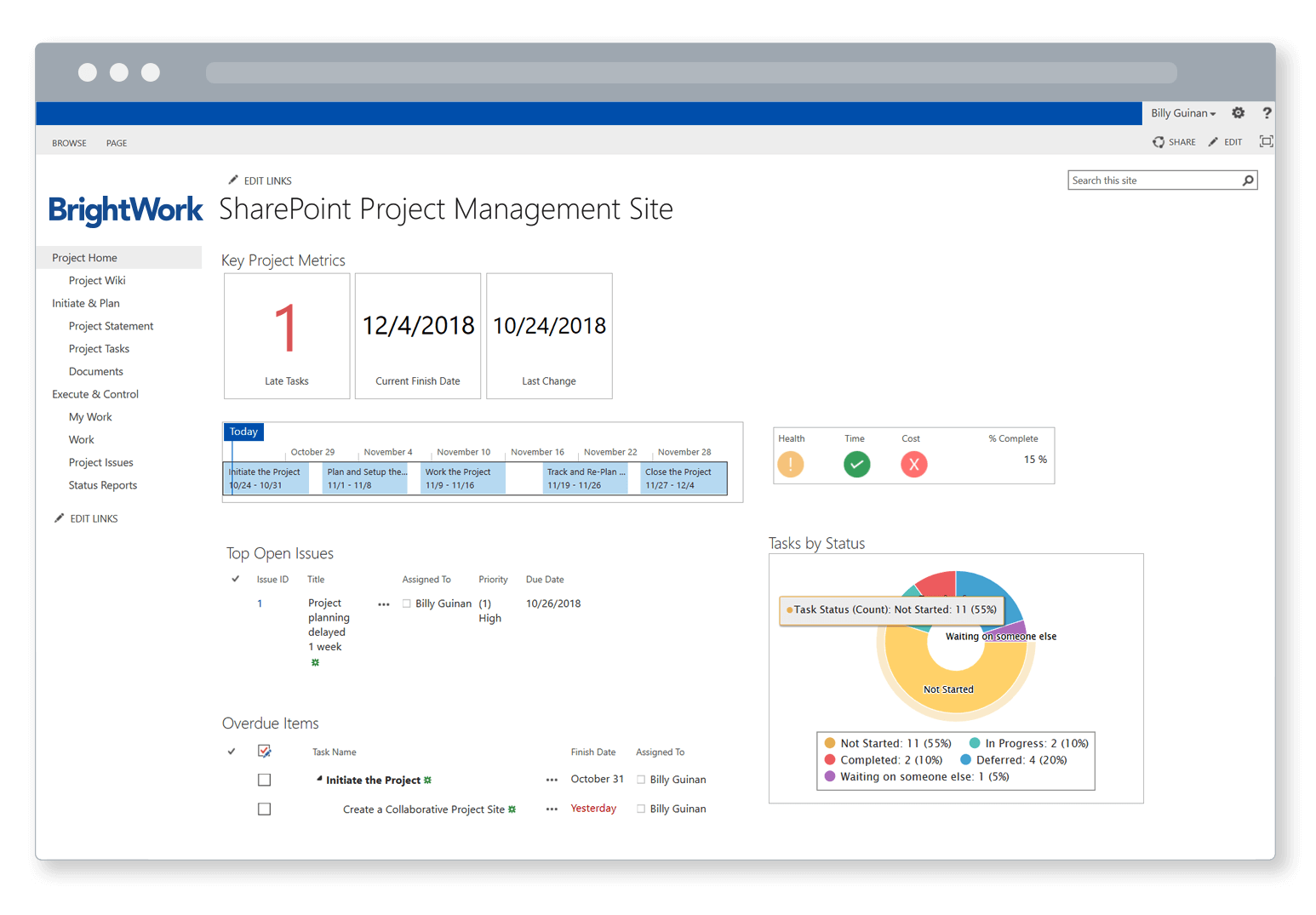 Sharepoint Project Management Templates