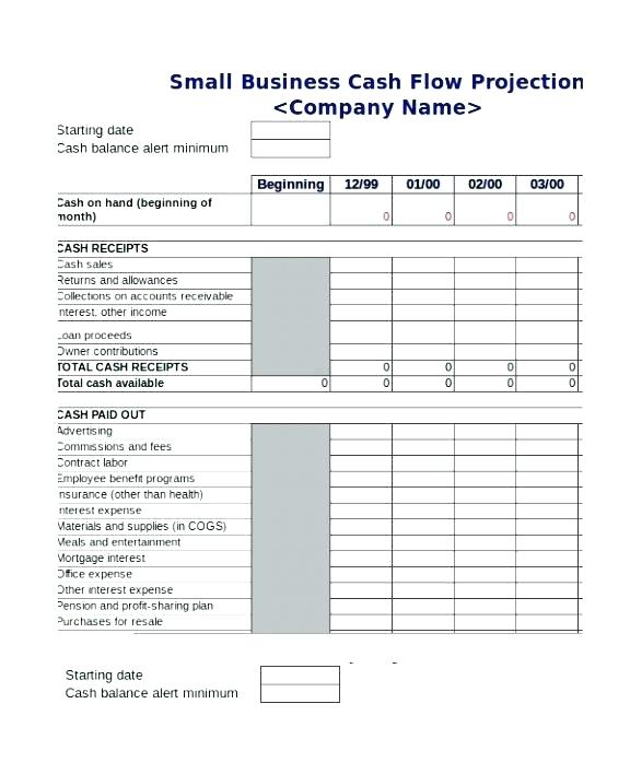 Simple Monthly Cash Flow Statement Template
