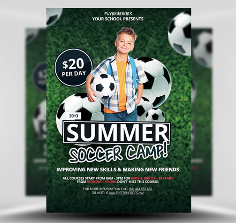 Soccer Camp Flyer Template Free