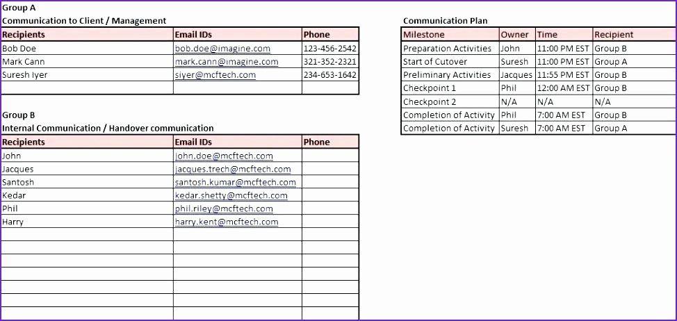 Software Deployment Checklist Template Excel