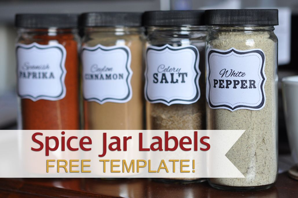 Spice Jar Label Template Free
