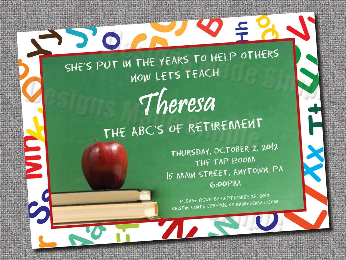 Teacher Retirement Invitation Template Free