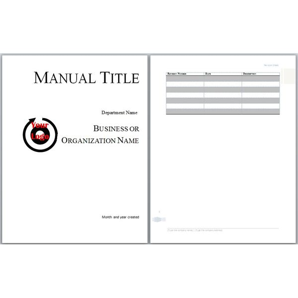 Template For Employee Handbook Restaurant