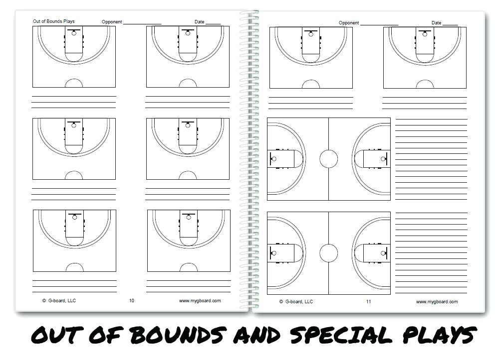 Template Half Court Basketball Diagram