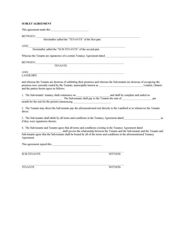 Tenancy Agreement Template Nz