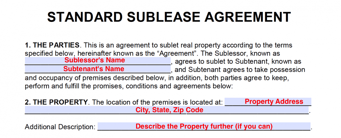 Tenancy Agreement Template Uk Pdf