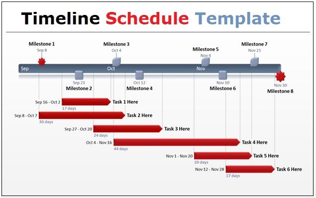Timeline Schedule Template Word
