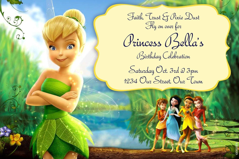 Tinkerbell Invitation Templates