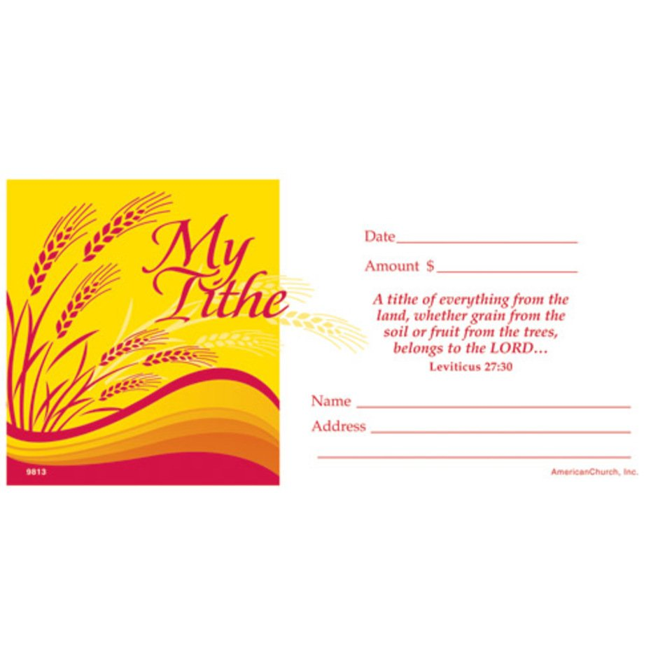 Tithe Envelope Template