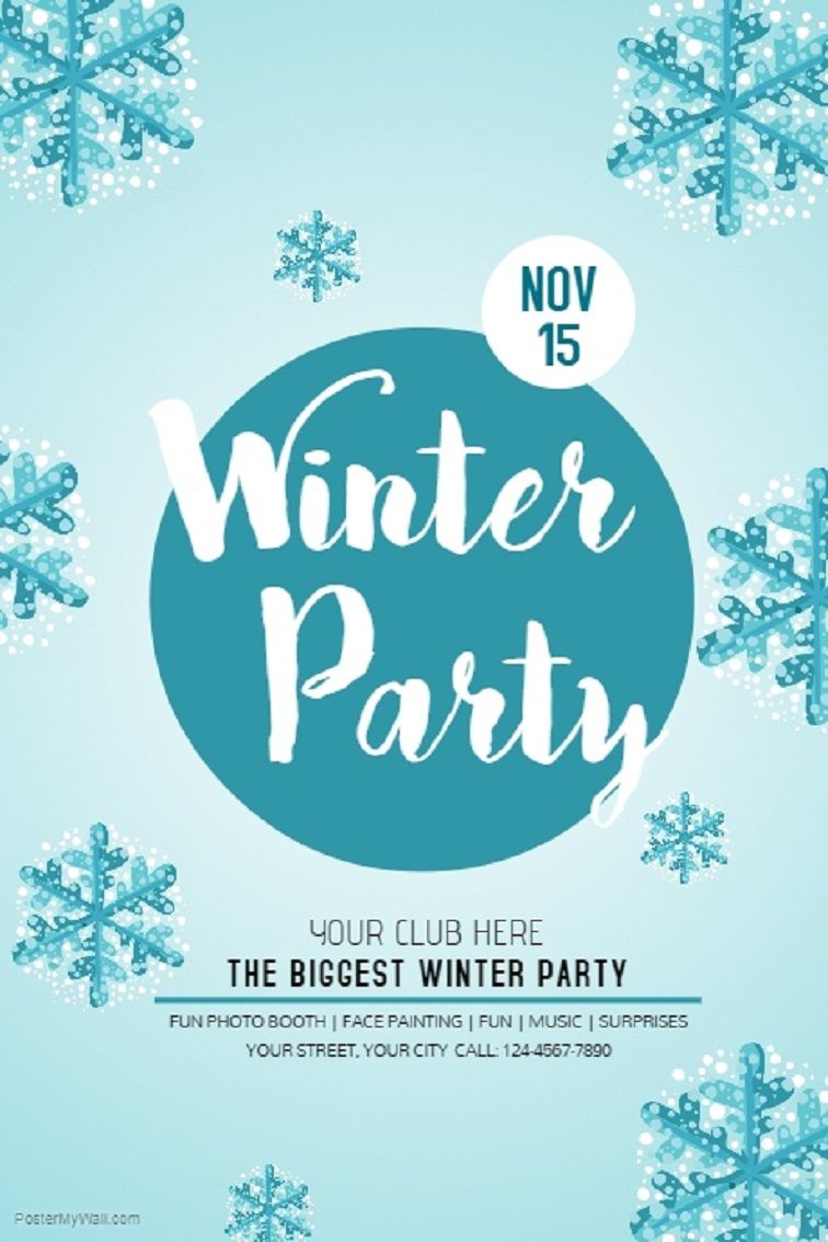 Winter Party Invitation Template Free