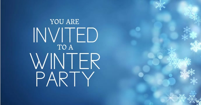 Winter Party Invitation Template
