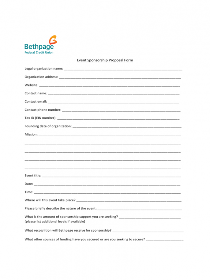 Word Event Sponsorship Proposal Template Free Pdf