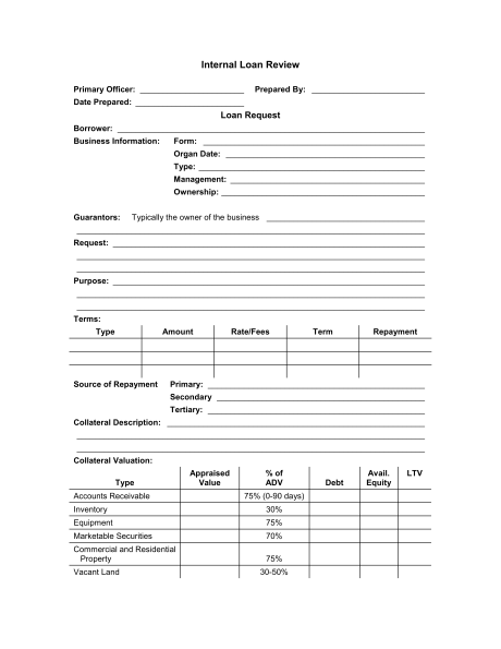 Word Loan Form Template