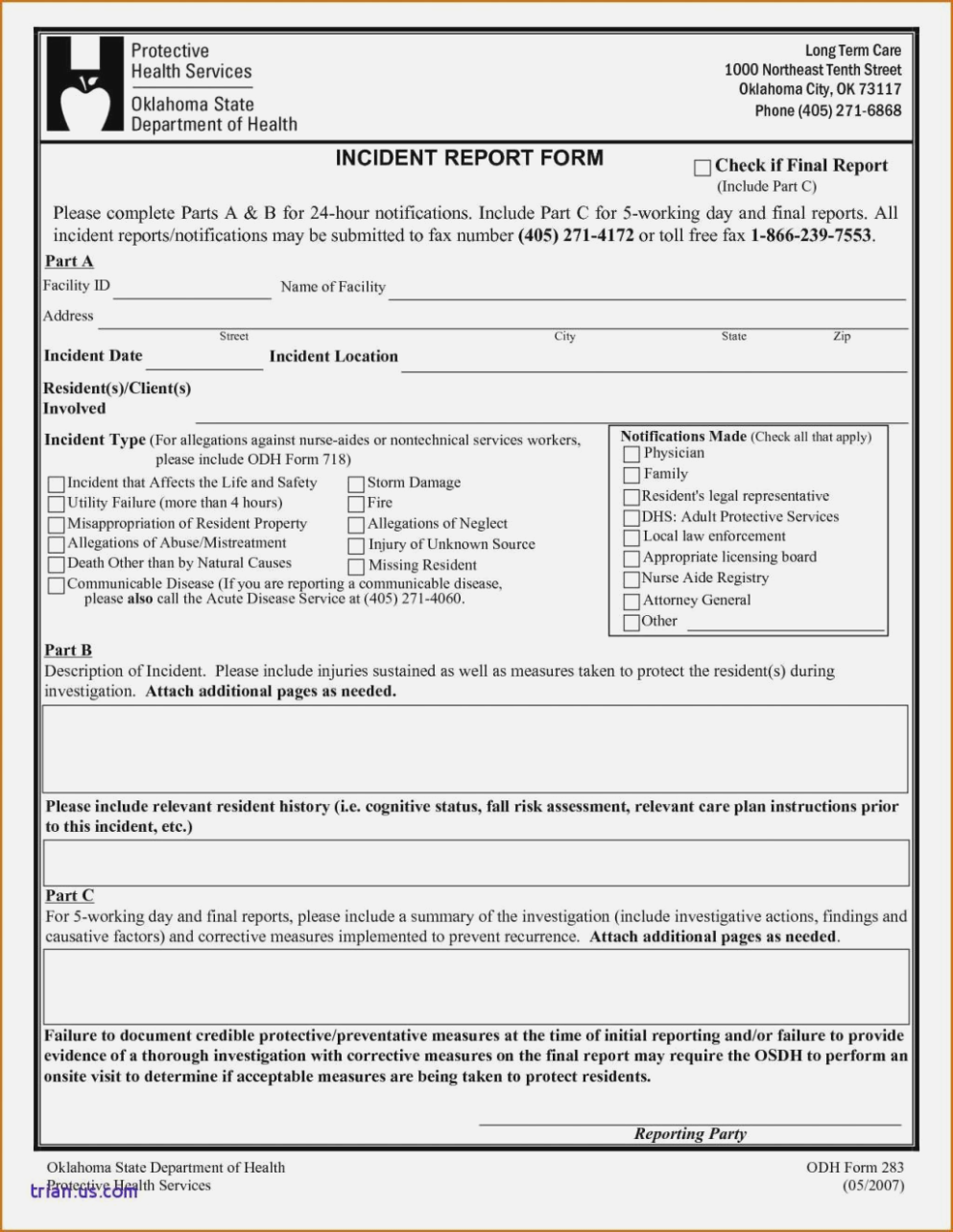 Workplace Accident Report Template Word