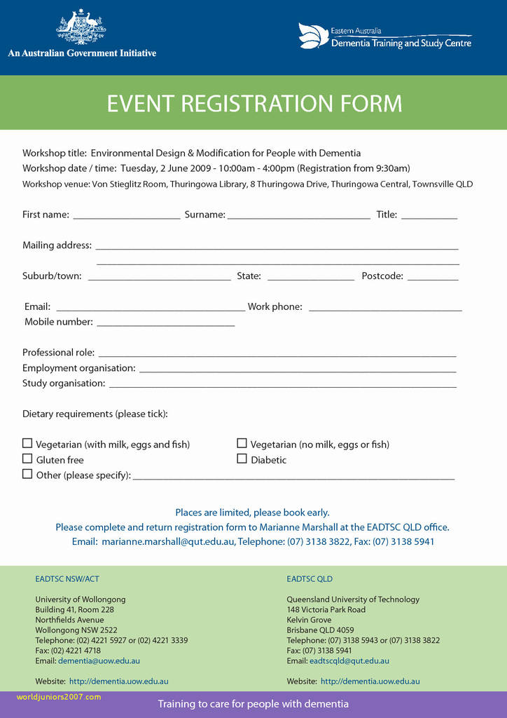 Workshop Registration Form Template Word Awesome Seminar Registration Form Template Word Personalinjurylovete