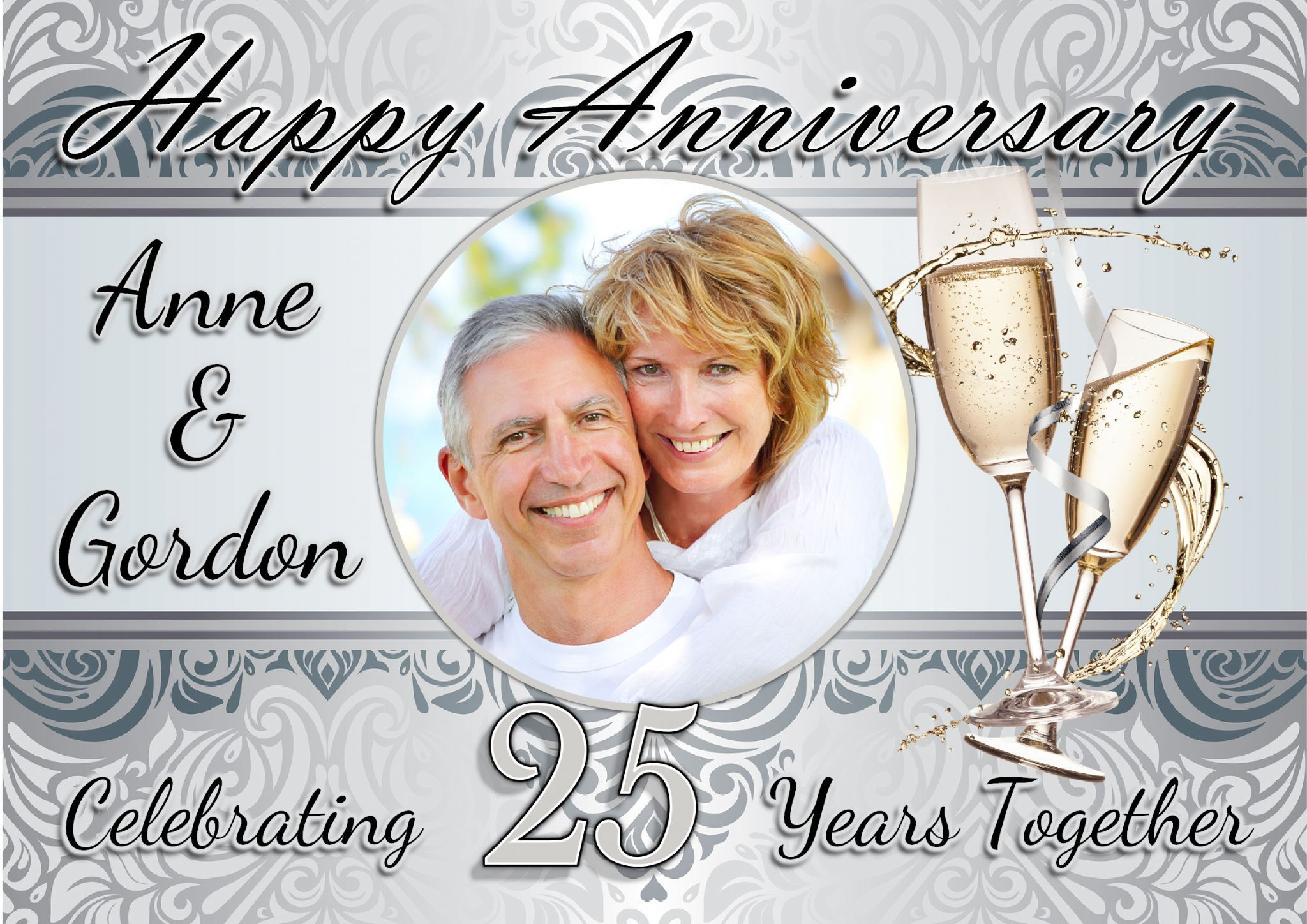 25th Wedding Anniversary Invitations Templates