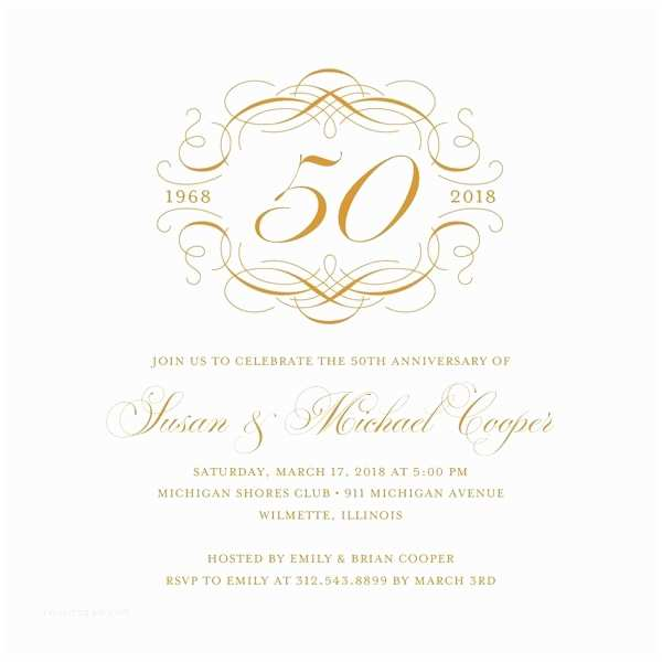 50th Wedding Anniversary Invitations Free Templates Anniversary Invitation Templates Free Download
